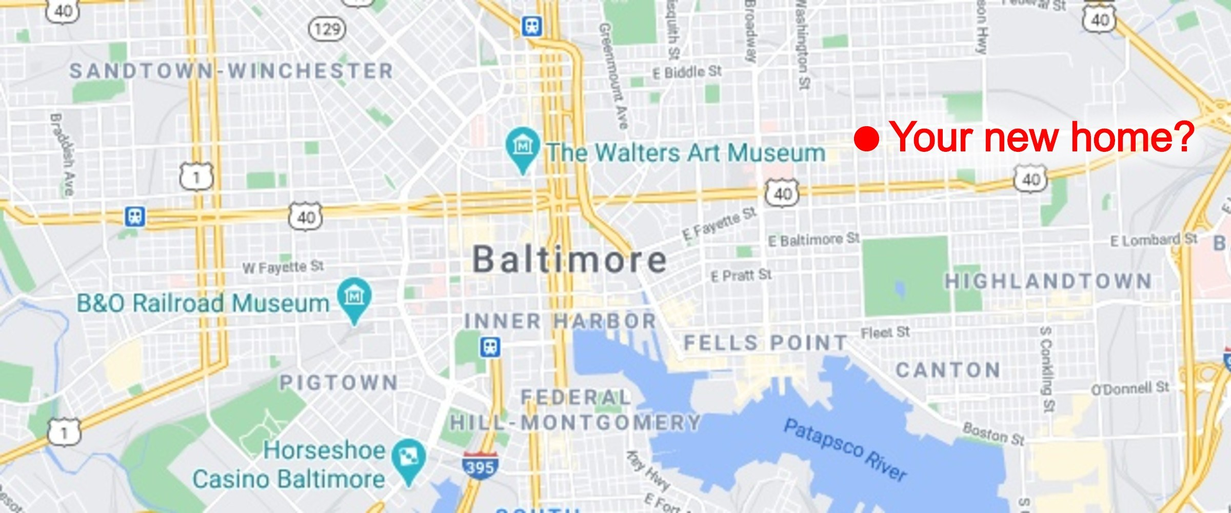 best Baltimore neighborhoods map