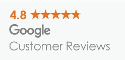 4.8 stars average review on Google