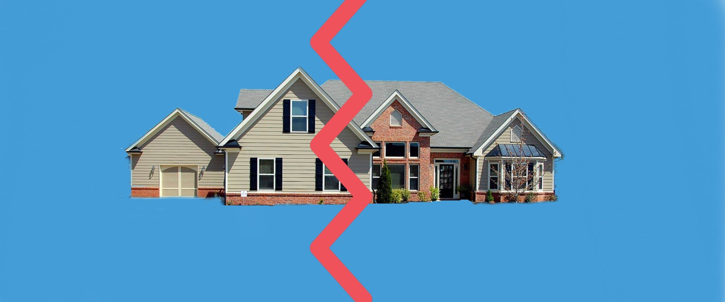 divorce and mortgage divided home