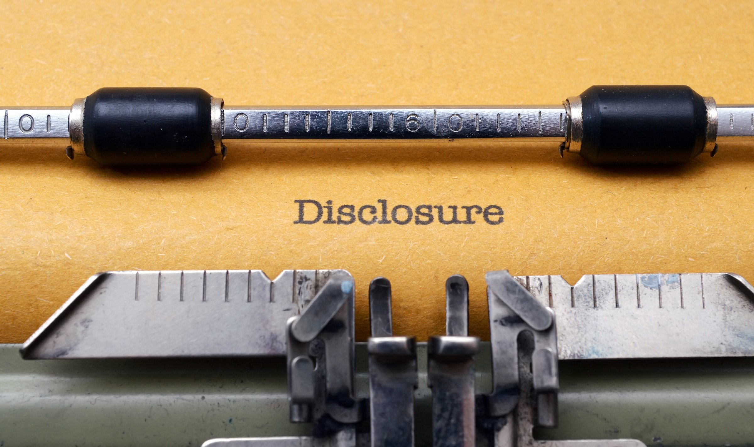 seller disclosure document